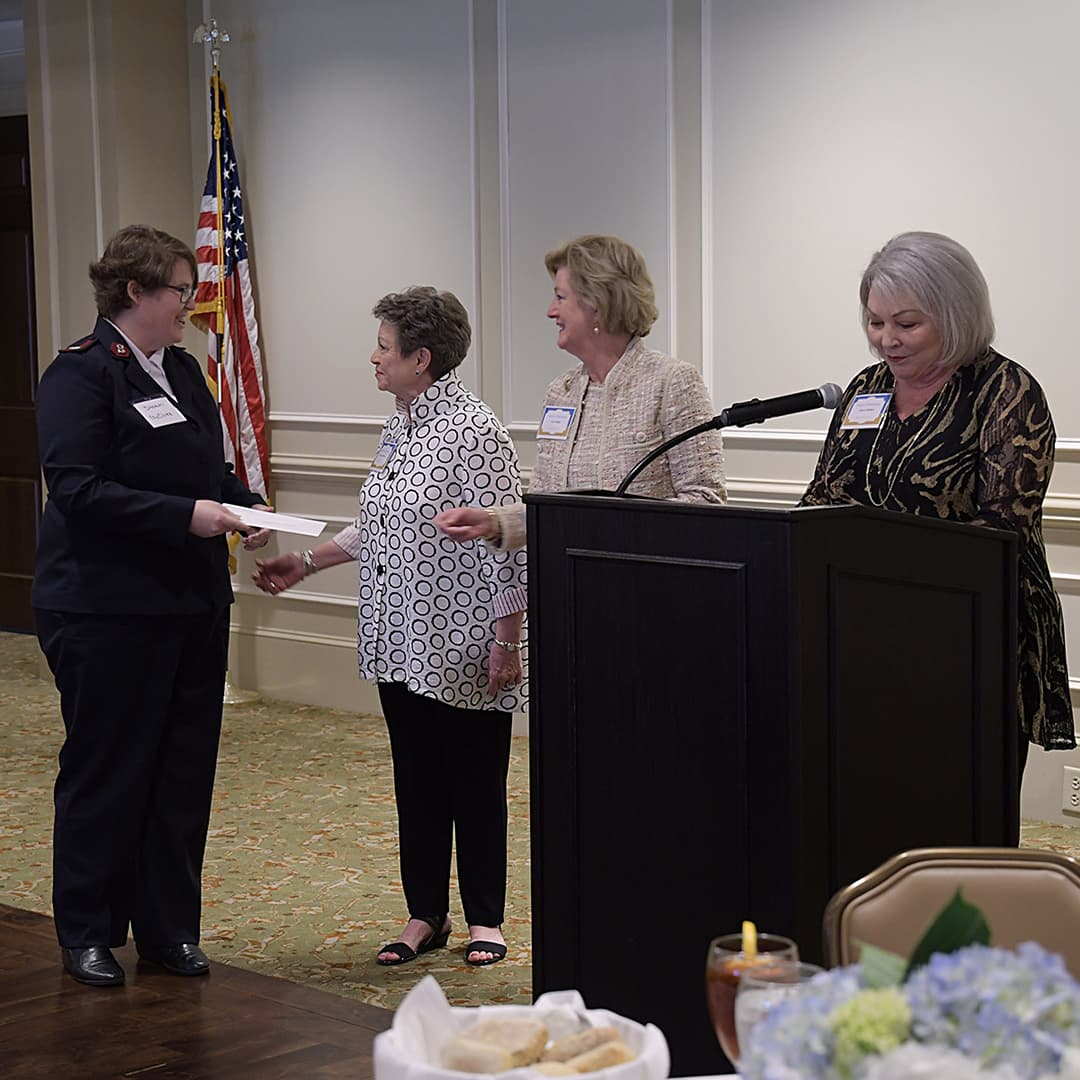 The Salvation Army Augusta Area Command receiving award